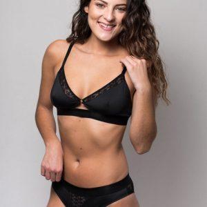 Ensemble de lingerie sexy soutien-gorge et culotte sans armatures écologique et fabriqué en France Sans Prétention