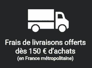 Frais de livraison offert dès 150 euros d'achats en France métropolitaine