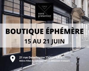 Boutique éphémère lingerie écoresponsable et fabriquée en France, Sans Prétention.