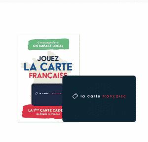 Carte Cadeau de La Carte Française à offrir pour noël à un de ses proches, regroupe de nombreuses marques françaises eco-responsable