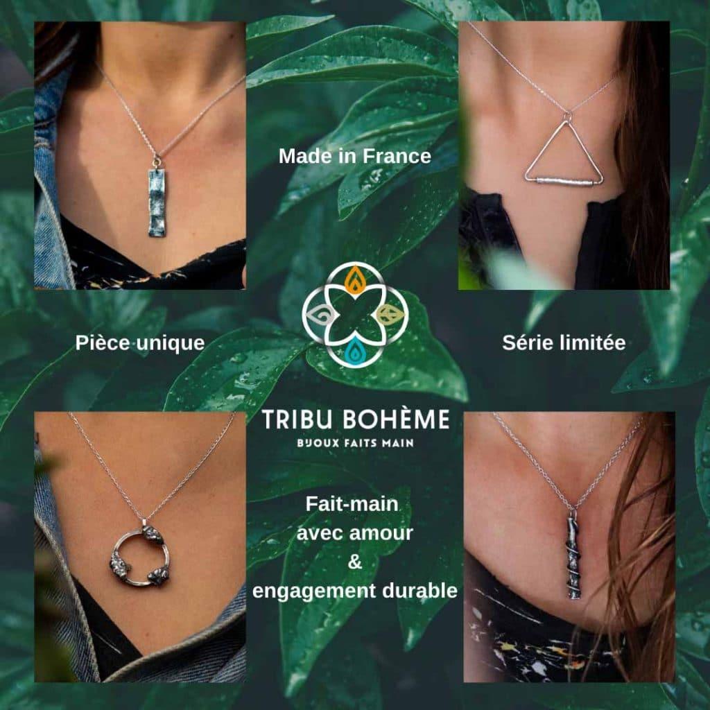 Tribu Bohème bijoux faits-main avec amour et engagement durable et son collectif de marques françaises