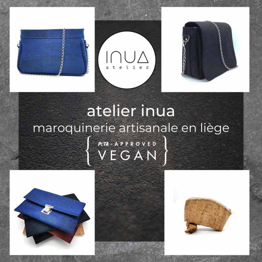 Atelier INUA maroquinerie artisanale en liège PETA approved VEGAN et son collectif de marques françaises