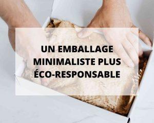 Sans Prétention, lingerie éco-responsable et made in France a choisi un emballage minimaliste plus éco-responsable