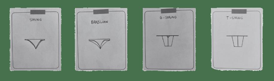Formes de string sexy - sans prétention lingerie