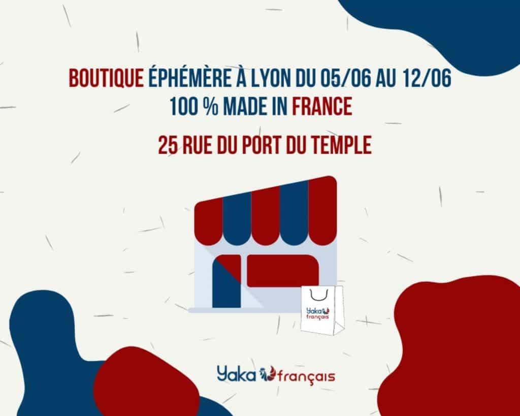 Boutique éphémère du 5 au 12 juin 2021 à Lyon entre lingerie Sans Prétention et Yaka Français